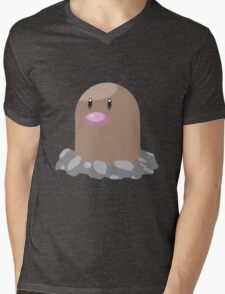 Digett Pokemon Simple No Borders Mens V-Neck T-Shirt