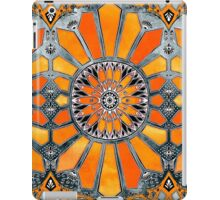 Celebrating the 70's - tangerine orange watercolor on grey iPad Case/Skin