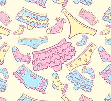Underwear seamless pattern with other pants and socks. For web design and  other by julkapulka