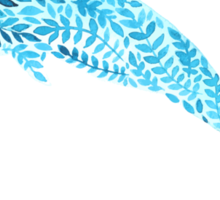 Patterned floral watercolor dolphin vector illustration Sticker