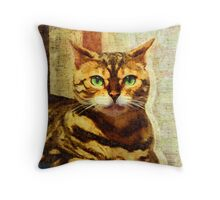Queenly Regard Throw Pillow