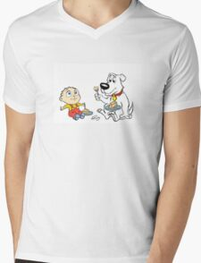 Stewie and Brian Disney Style Mens V-Neck T-Shirt