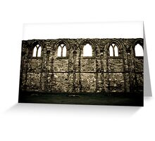 Abbey Wall Greeting Card