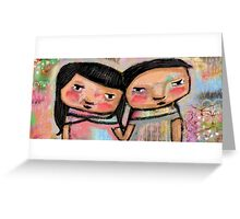 'Together' a couple in love  Greeting Card
