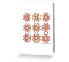 Pink Fuchsia Foot Flowers Greeting Card