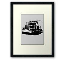 Semi Truck Framed Print
