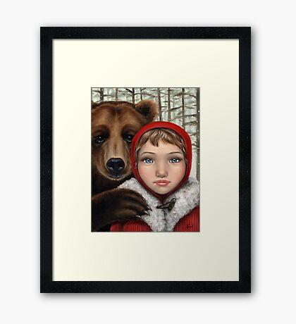 Masha and the Bear Framed Print