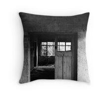 Abandoned Doorway Throw Pillow