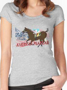 American Pharoah - Kentucky Derby 2015 Women's Fitted Scoop T-Shirt