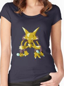 Alakazam Pokemon Simple No Borders Women's Fitted Scoop T-Shirt