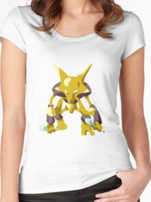 Alakazam Pokemon Simple No Borders Women's Fitted Scoop T-Shirt