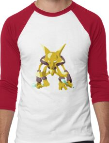 Alakazam Pokemon Simple No Borders Men's Baseball ¾ T-Shirt