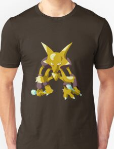 Alakazam Pokemon Simple No Borders Unisex T-Shirt