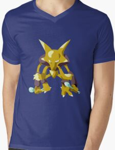Alakazam Pokemon Simple No Borders Mens V-Neck T-Shirt