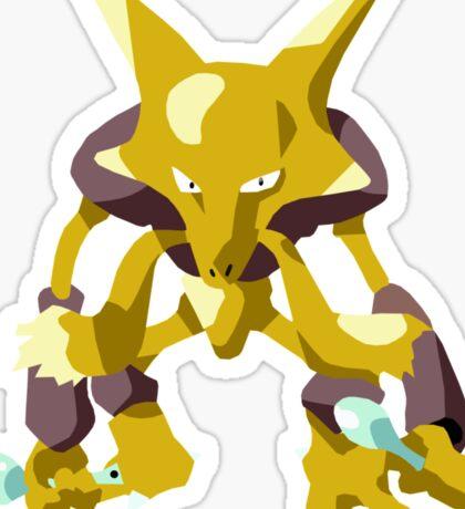 Alakazam Pokemon Simple No Borders Sticker