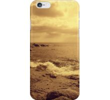 Waves on rocs iPhone Case/Skin