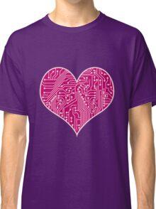 Digital Love Heart Printed Circuit Board Design Classic T-Shirt