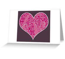 Digital Love Heart Printed Circuit Board Design Greeting Card