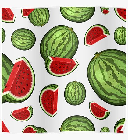Veggiephile - Watermelon Poster