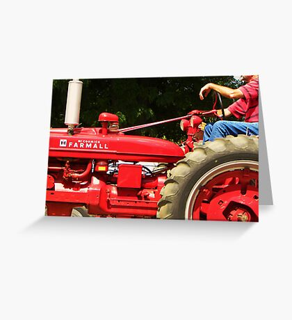 Tractors on Parade Greeting Card