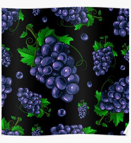 Veggiephile - Grapes Poster