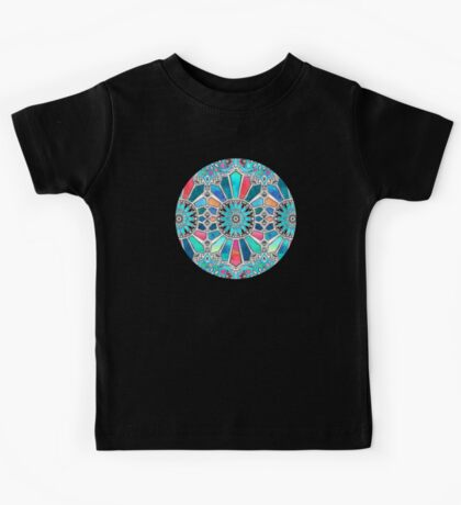 Iridescent Watercolor Brights on White Kids Tee