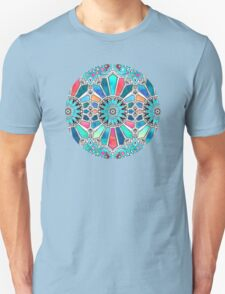 Iridescent Watercolor Brights on White Unisex T-Shirt