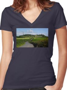 The Way Up Women's Fitted V-Neck T-Shirt