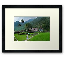 RICE TERRACES - PHILIPPINES Framed Print