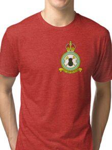 75(NZ) Squadron RAF Full Colour crest (small) Tri-blend T-Shirt