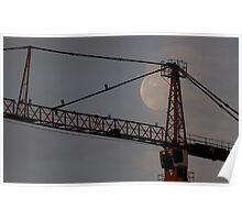Moon&Crane Poster