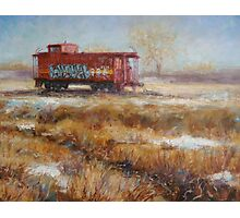 Lonely Caboose Photographic Print