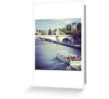 La seine Paris Greeting Card