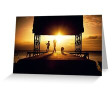 Faster than the setting sun.  Greeting Card
