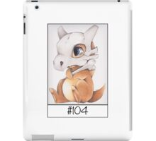 Cubone, lonely pokemon iPad Case/Skin