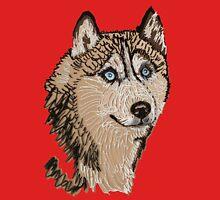 Siberian Husky 2 TS Womens Fitted T-Shirt