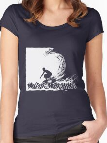 Music Surfer 2 (Music Machine) Women's Fitted Scoop T-Shirt