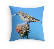 Organic Birdseed Throw Pillow