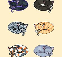 Watercolor Kitties by Amy-Elyse Neer