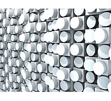 Wall of Cylinders 2.0 Photographic Print