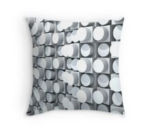 Wall of Cylinders 2.0 Throw Pillow