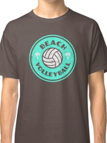 Beach Volleyball Neon Distressed Classic T-Shirt