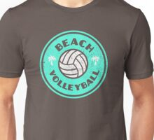 Beach Volleyball Neon Distressed Unisex T-Shirt