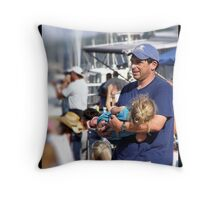 Devoted Dad Throw Pillow