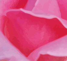 Watercolor pink rose Sticker