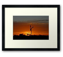 Windmill Sunset Framed Print