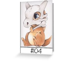 Cubone, lonely pokemon Greeting Card