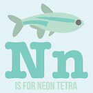 N is for Neon Tetra by Amy Huxtable
