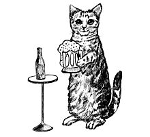 Real Cat Love Beer Photographic Print