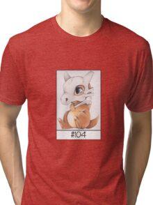 Cubone, lonely pokemon Tri-blend T-Shirt